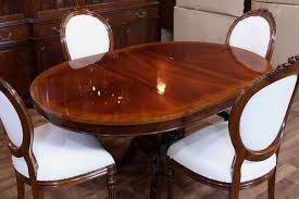 Mahogany Dining Room Tables Mahogany Dining Room Set For Sale White Leather Upholstered Dining