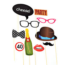 photo booth party props 10 party photobooth photo booth glossy card party props set