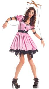 Pink Lady Halloween Costume Size Pink Marionette Doll Costume Doll Costume