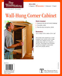 wall hung corner cabinet editors of fine woodworking