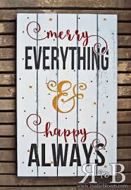 happy everything sign christmas crafts