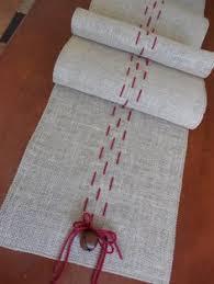 holiday table runner ideas spring runner burlap and chevron ribbon chevron ribbon burlap