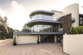 outstanding modern family home in dorset england garage entrance driveway