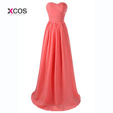 coral color aliexpress com buy coral color bridesmaid dresses long 2017