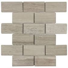 shop elida ceramica stonegate mosaic marble wall tile common 12