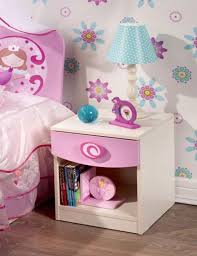 Pink Nightstand Side Table Cute And Lovely Bedside Tables In 10 Kid U0027s Bedrooms Rilane