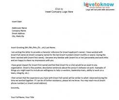 brilliant ideas of character reference letter for a potential