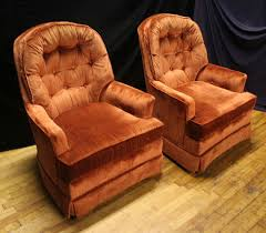 orange spice color beautiful rust or orange spice color tufted club armchair chairs