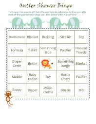 photo baby shower bingo fill image