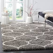 Area Rug 6 X 9 Safavieh Hudson Shag Collection Sgh280b Grey And Ivory