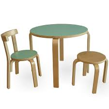 Toddler Table And Chairs Wood Kids Birch Wood Table 2 Chairs Set Prd Furniture