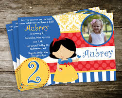 A Birthday Invitation Card Snow White Birthday Invitations Kawaiitheo Com