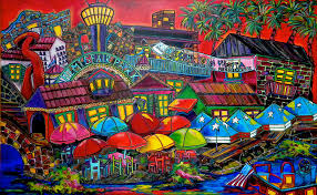 the alamo painting playing tourist by patti schermerhorn
