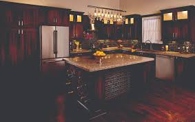 granite countertops kitchen island with wine rack lighting