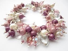 pink beads bracelet images Cluster bracelet pearl bracelet pink purple miracle beads jpg
