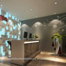 artificial marble modern cloth shop counter table design buy