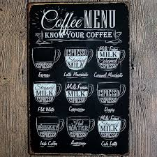 Home Wall Decor by Pop Coffee Menu Vintage Tin Sign Bar Pub Shop Home Wall Decor