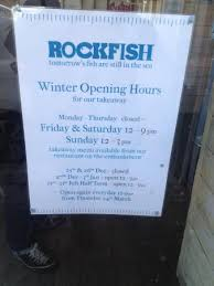 winter opening hours picture of rockfish takeaway dartmouth