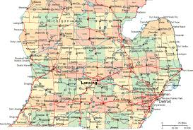 map of michigan regional map of southern michigan