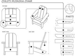 Adirondack Chairs Blueprints Building A Child U0027s Muskoka Chair 13 Steps With Pictures