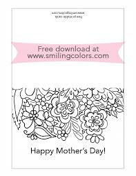 free printable mothers day card to color and gift smitha katti