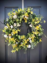 forsythia wreath yellow wreaths cotton boll wreaths