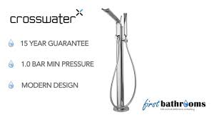 crosswater glide floor standing bath shower mixer with kit gl415fc