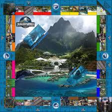 Monopoly Map Monopoly Jurassic World Alternative Map By Mjcarnage90 On Deviantart