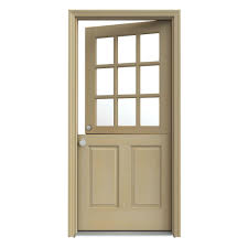 Jeld Wen Interior Doors Home Depot by Jeld Wen 32 In X 80 In 9 Lite Unfinished Dutch Wood Prehung