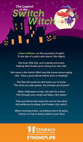 Kids Halloween Poem The Switch Witch Strong4life