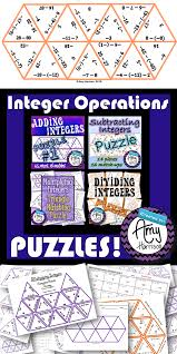 integer operations puzzles worksheets math and rational numbers