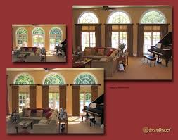 Draperies For French Doors Arched Window Coverings U0026 Window Treatments For Arch Windows Ideas