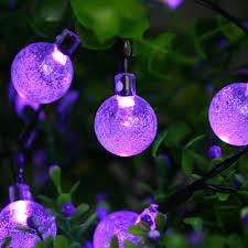 Halloween Bubble Night Lights Icicle Halloween Solar String Lights 20ft 30 Led Waterproof