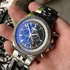 breitling bentley on wrist breitling for bentley a47362 stainless steel gmt chronograph