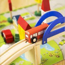 Make Wooden Toy Train Track by Aliexpress Com Buy Let U0027s Make Preschool Urban Rail Toy Overpass