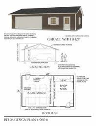 Two Car Garage Organization - two car garage with shop plan 1040 2r 40 u0027 x 26 u0027 by behm design