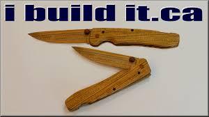 wooden pocket knife youtube