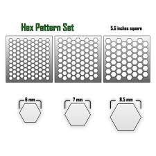 hex pattern airbrush stencils u2013 death ray designs u2013 tabletop
