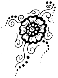 best photos of henna flower stencils printable flower henna