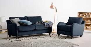 Sofa King Advert by Sofia 2 Seater Sofa Plush Indigo Velvet Made Com
