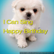 singing happy birthday talking puppy sings happy birthday appstore for android