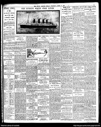 the sinking of the titanic 1912 how news of the titanic disaster broke titanic 100 years on abc