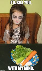 Salad Meme - demon children hate salad imgflip