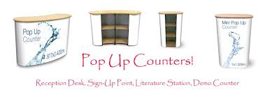 Portable Reception Desk Pop Up Counter With Graphic Is Very Portable It Packs Flat And