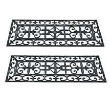 casa pura non slip rubber stair tread mats pack of 2 25 x 75 cm