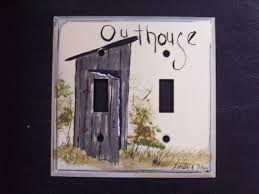 painted light switch covers double metal light switch cover outhouse hand painted linda s