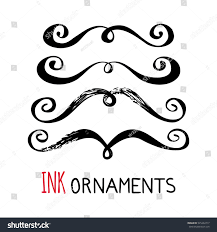 ink ornaments painted dividers graphic stock vector 545464717