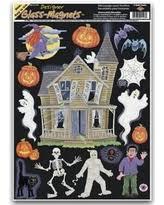 christmas shopping sales on vampire halloween window cling sheet