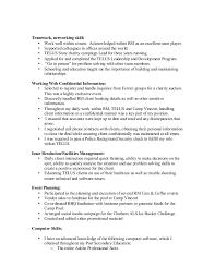 Networking Skills In Resume Kerri Wright2017 Resume