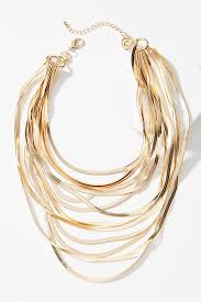 layered necklace chain images Snake chain layered necklace anthropologie